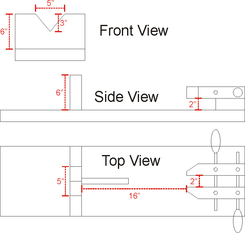 Gun Vise Plans -- Schematic Diagram