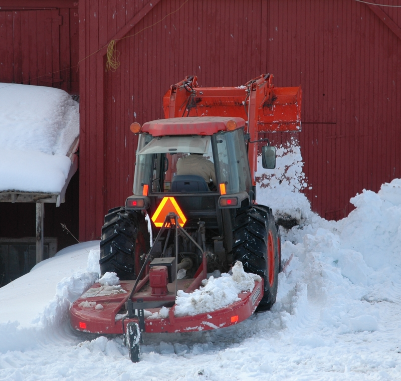 Kubota Tractor Dumping That Snow