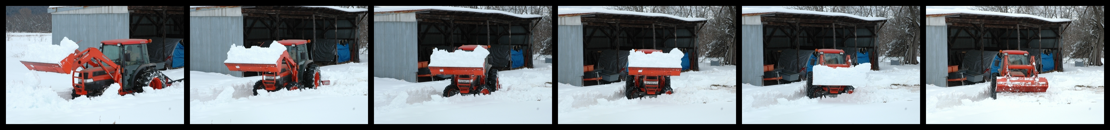 Snow Digging Action Sequence